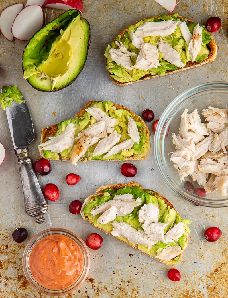 making turkey avocado toast