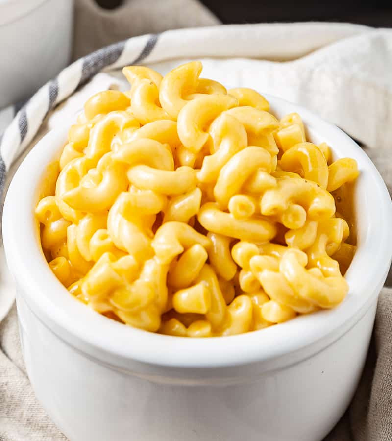 one serving of instant pot mac and cheese