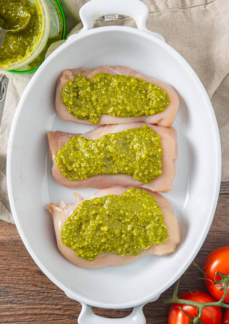 chicken breasts with pesto