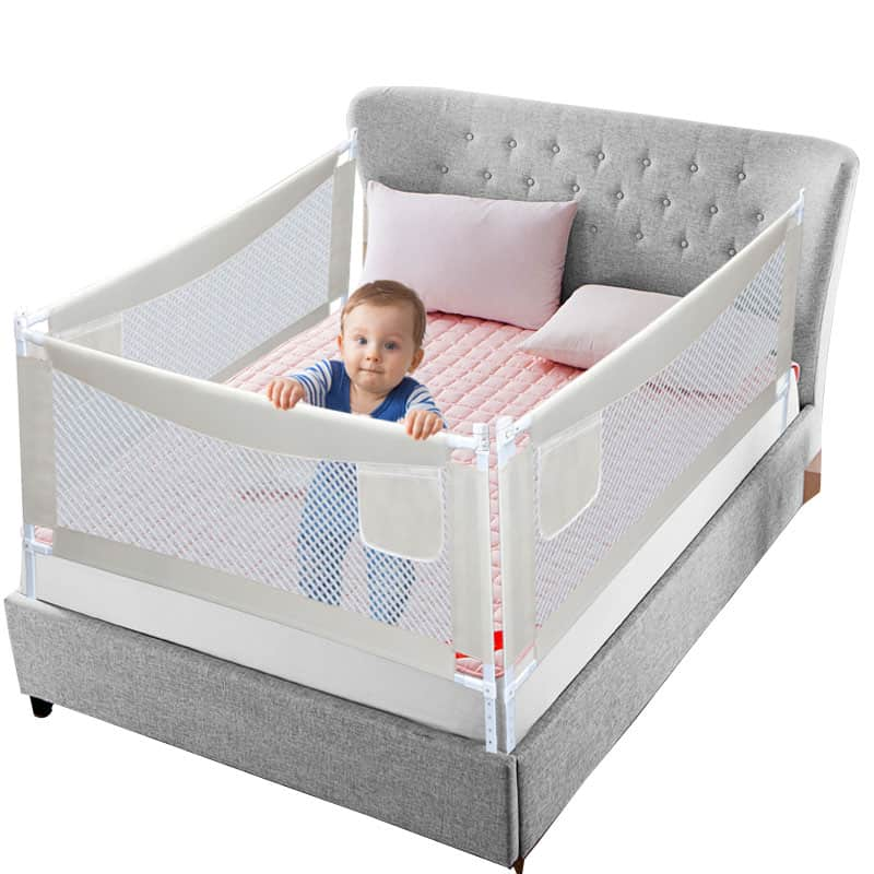 Baby playpen bed safety rails