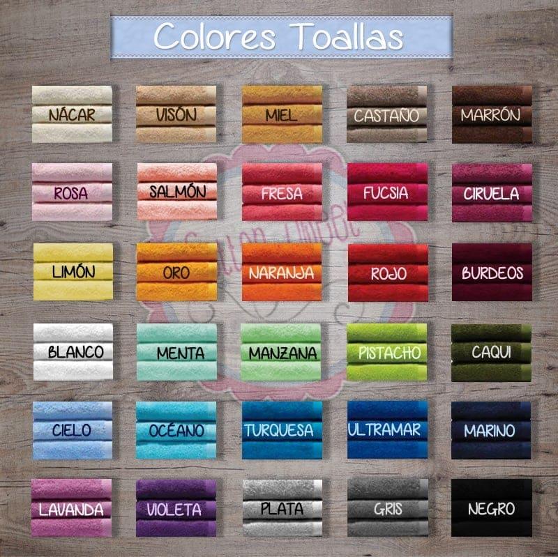 Colores toallas bordadas