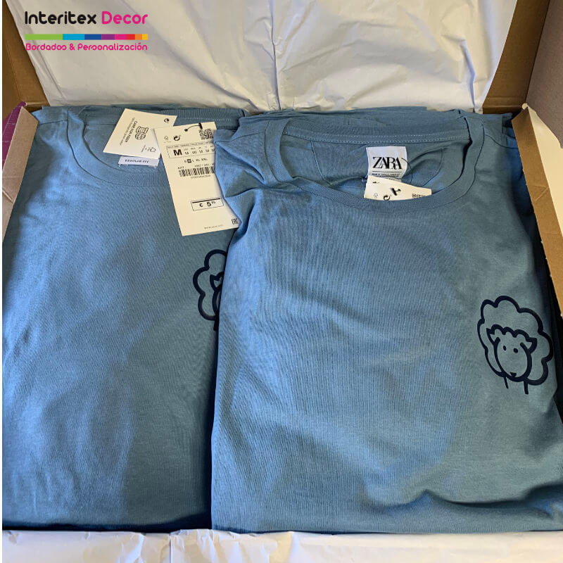 Camiseta personalizada vinilo textil empresa Lana