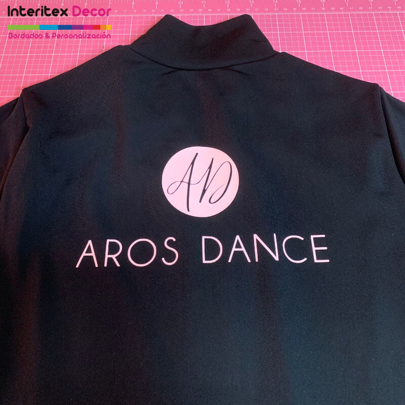 Chaqueta personalizada vinilo textil Aros Dance