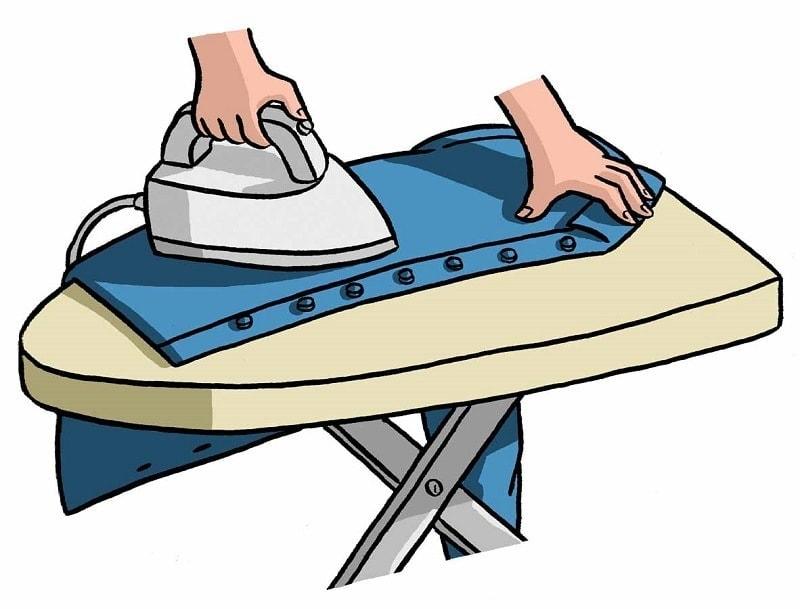 Гладим переднюю и заднюю часть рубашки