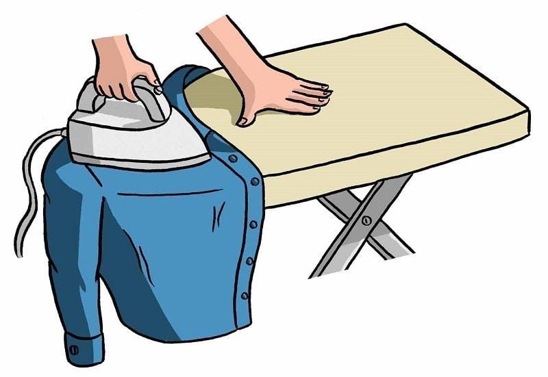 Гладим плечи рубашки