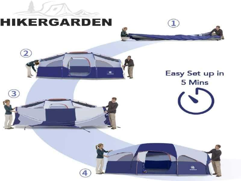 hikergarden tent 8 person waterproof