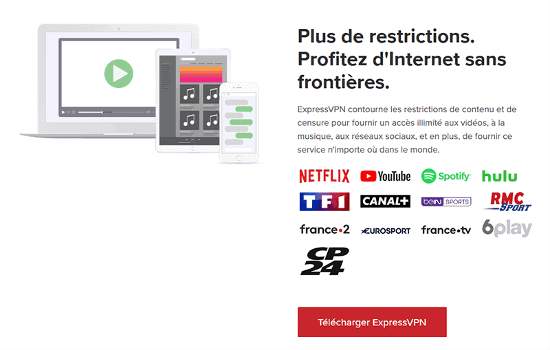 ExpressVPN és streaming