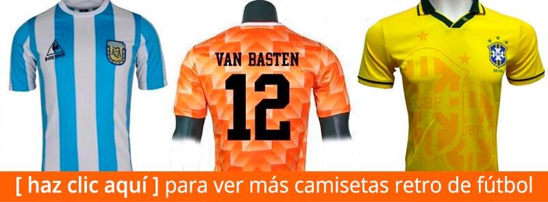 Camisetas Retro de Fútbol de Argentina de Maradona, de Holanda de Van Basten y de Brasil de Ronaldo