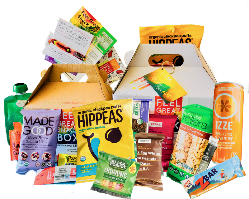 Healthy snacks on the go, healthy snack boxes for athletes