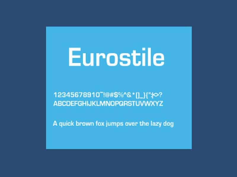 Eurostile Font Family Free Download