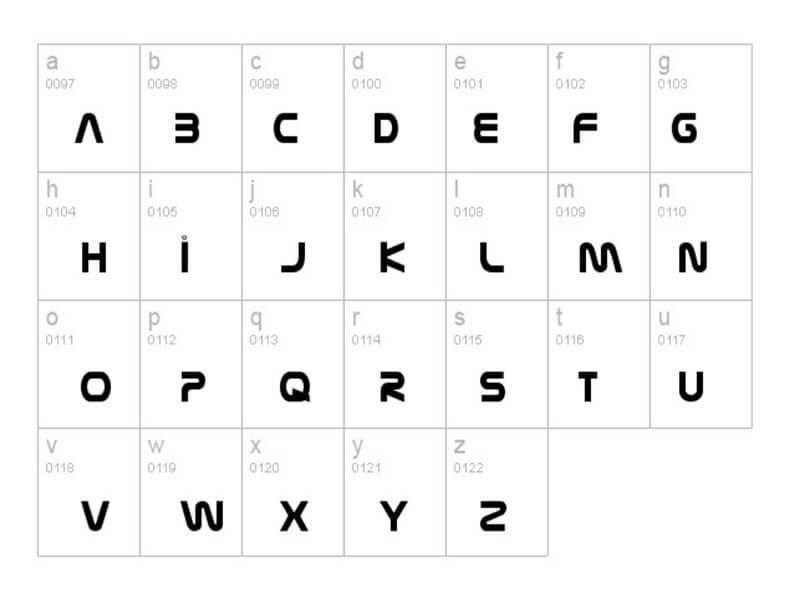 NASA Font Lettering Download