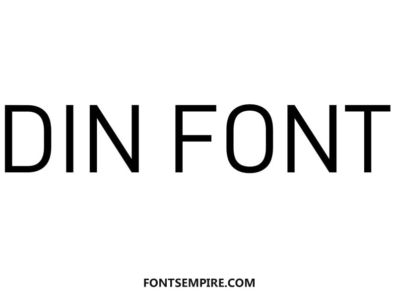 Din Font Family Free Download