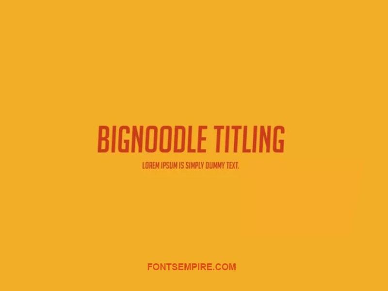 Big-Noodle Titling Font Family Free Download
