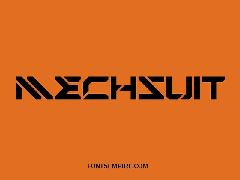 Mechsuit Font Family Free Download