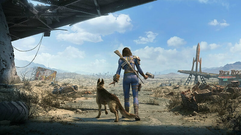 Fallout 4 Girl and Dog
