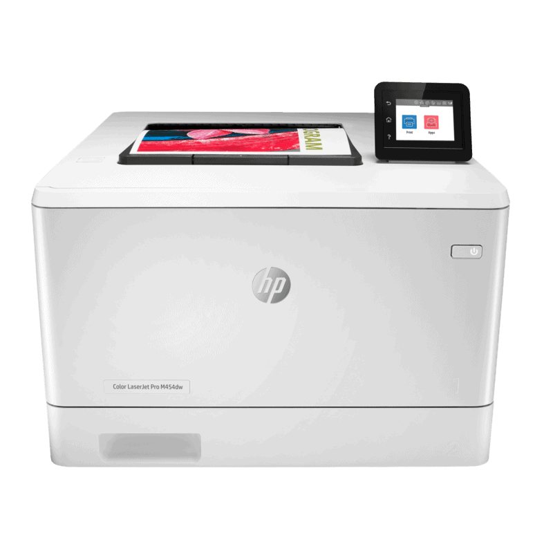 HP Colour LaserJet Pro M454dw Front View web