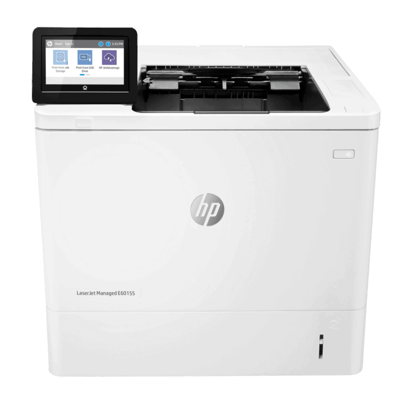 HP LaserJet Managed E60155dn Mono A4 Printer Front View web