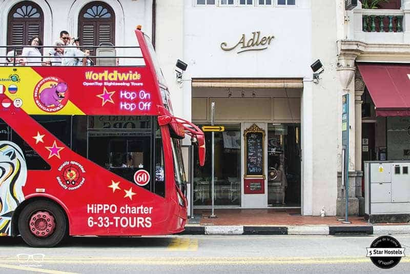 The Hop-On-Hop-Off Bus leaves from the door step of Adler Luxury Hostel
