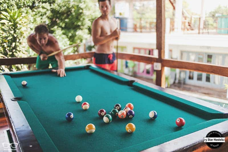 Challenge your buddies for a round of pool