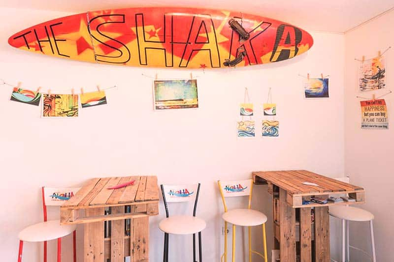 You can spend you free time at The Shaka common area