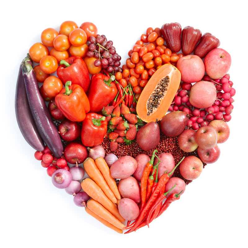heart healthy red food