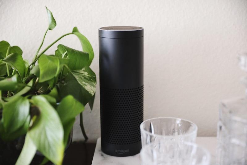 Amazon Echo on Bar