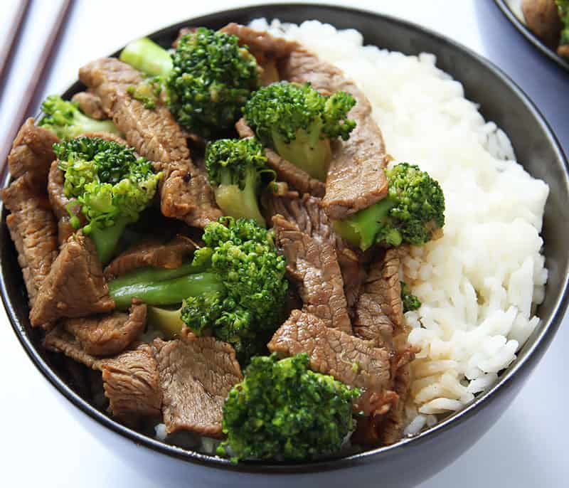 Ginger Beef Stir-Fry with Rice
