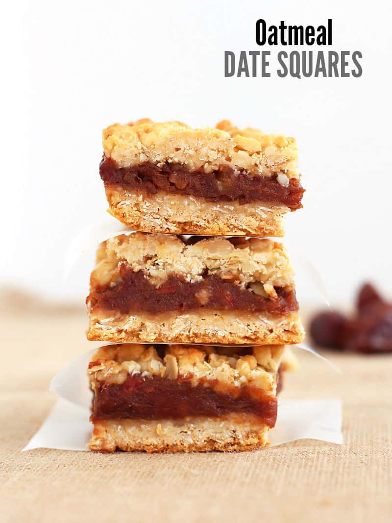 Stack of Oatmeal Date Squares