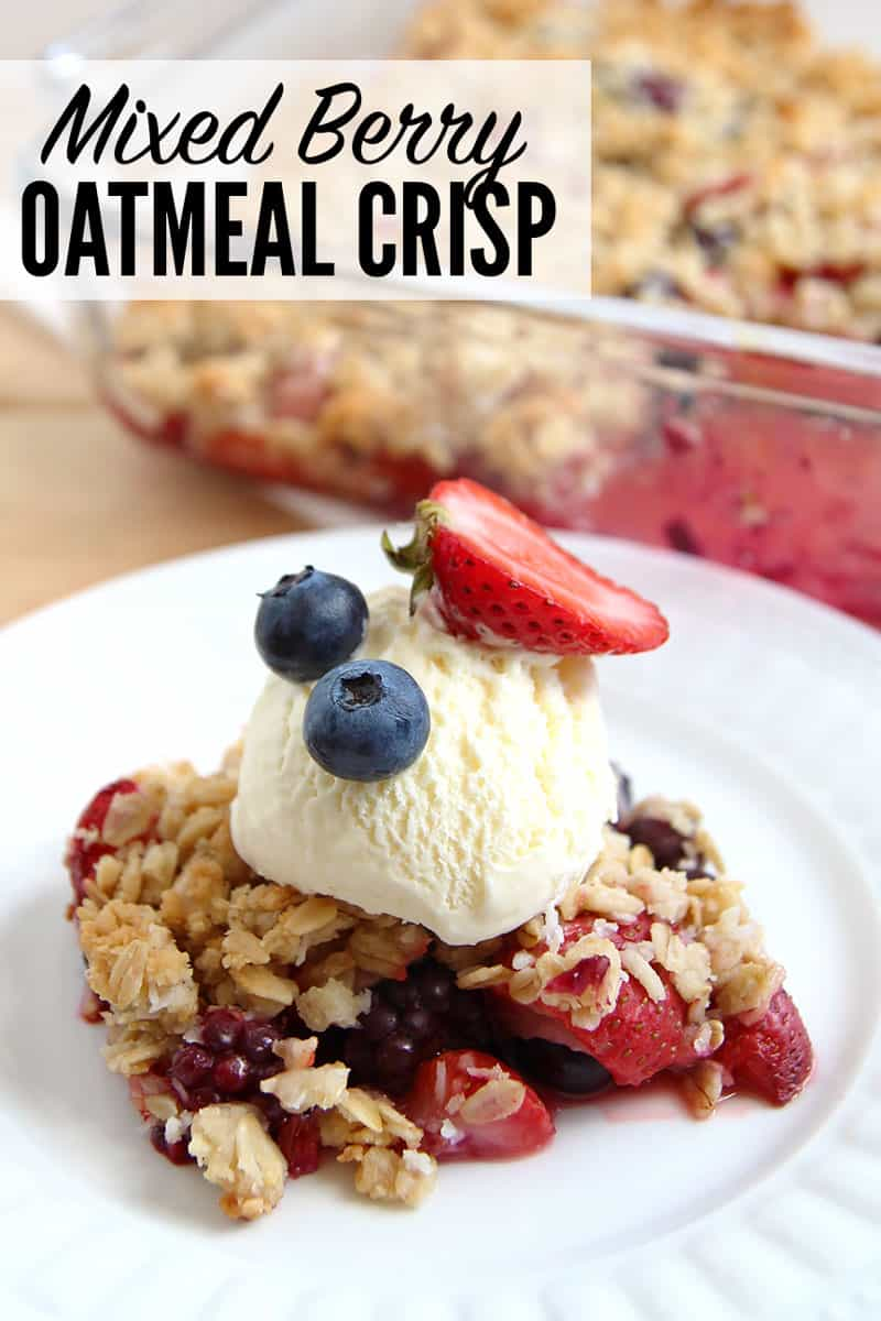 Mixed Berry Oatmeal Crisp