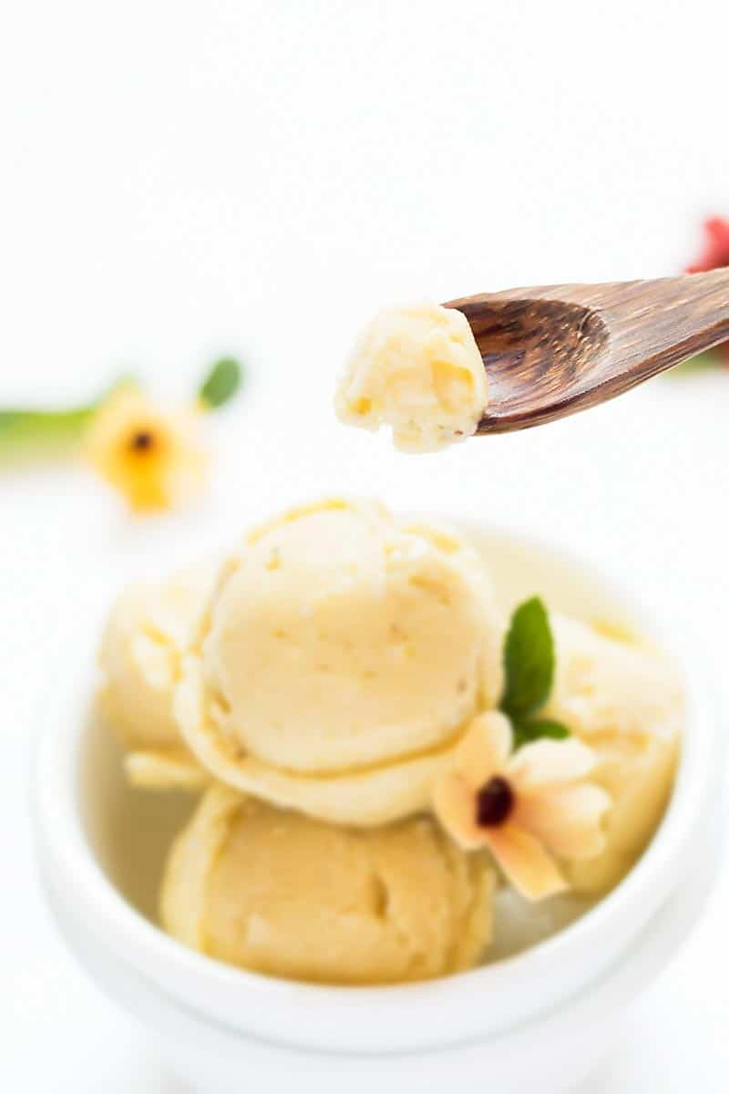 Spoonful of Pineapple Ice Cream