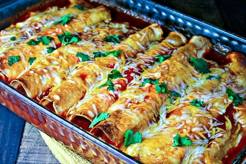 Cheesy Chicken Enchiladas Life Love And Good Food