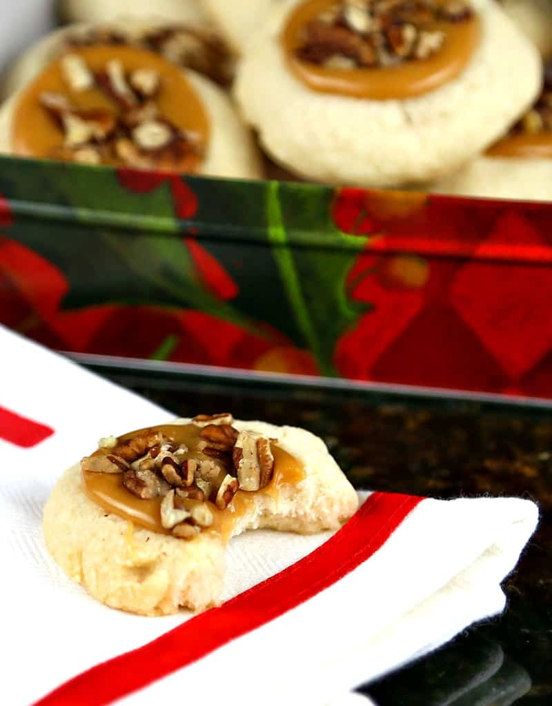Caramel Pecan Thumbprint Cookies | Life, Love, and Good Food