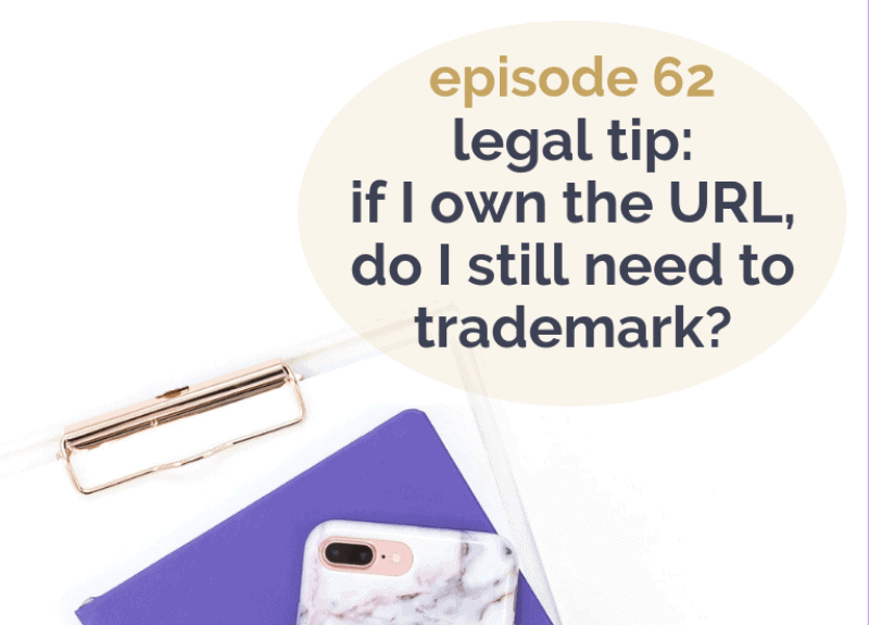 Legal Tip: If I own the URL, do I still need to Trademark?