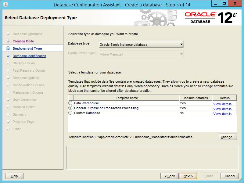 Oracle DBCA 12.2 - Step 03