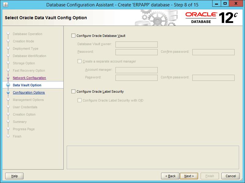 Oracle DBCA 12.2 - Step 08