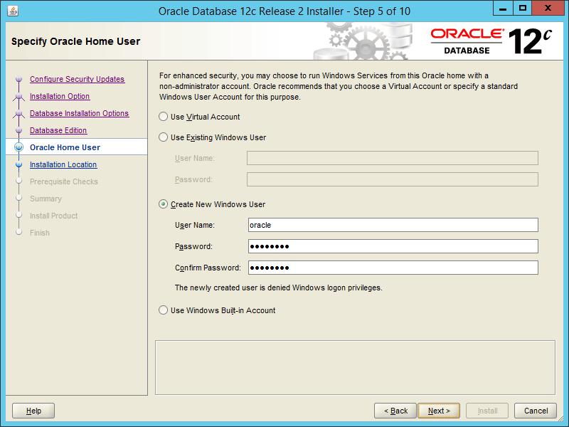 Oracle 12.2 OUI - Step 05