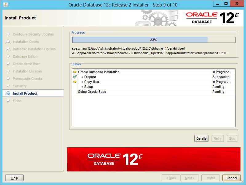Oracle 12.2 OUI - Step 09