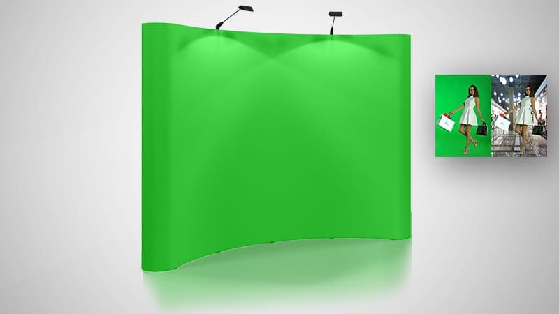 Megalux Photo Booth Rental - Green Screen Backdrop