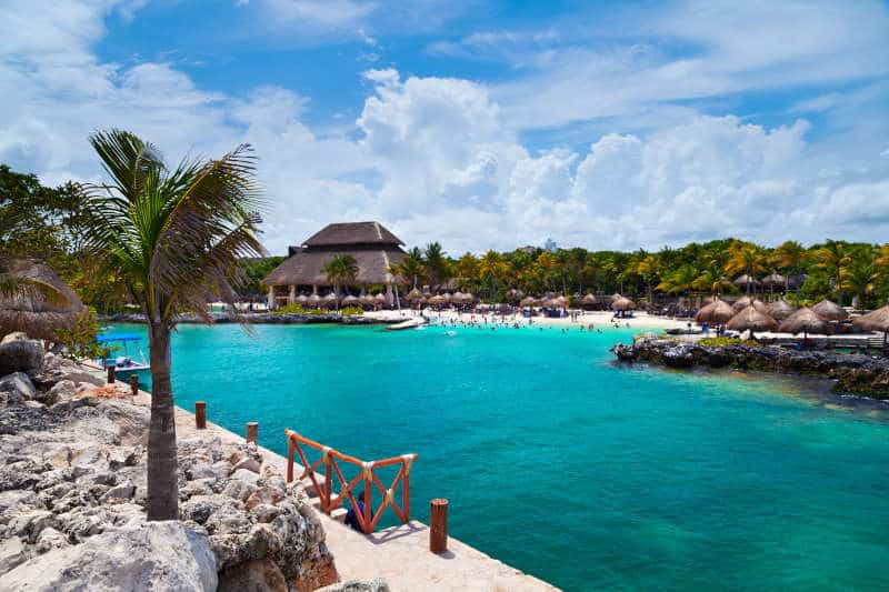 Xcaret Beach in the Mayan Riviera, Mexico