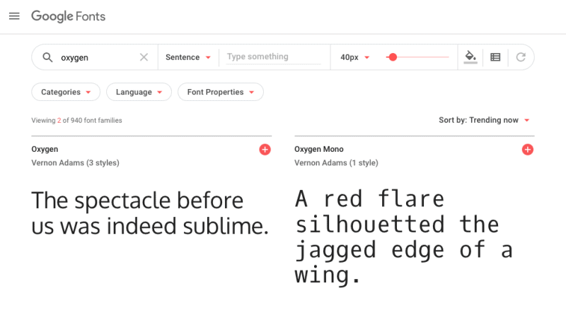 google fonts in web design