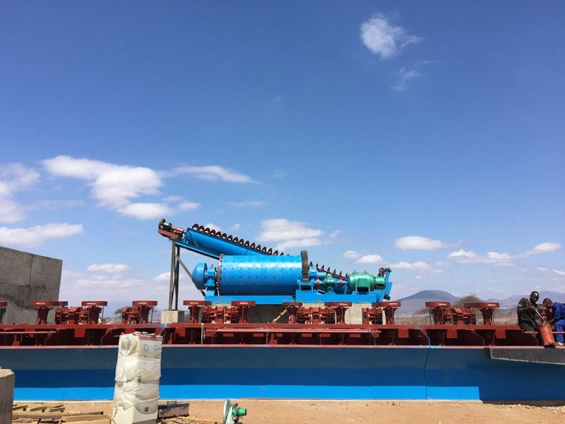 copper froth flotation plant