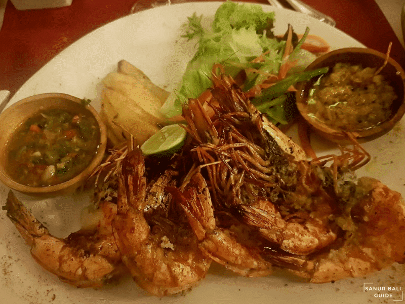 Seafood on the beach La Playa Cafe Sanur