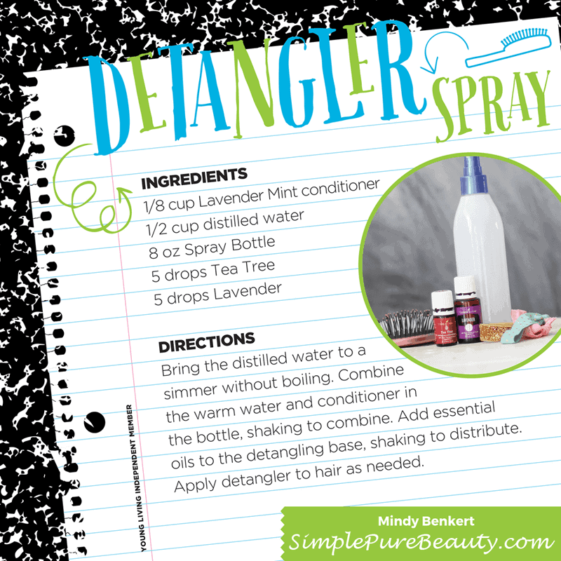 Skip the questionable ingredients on the store shelf and DIY this homemade detangler spray. Your little girl will have her hair pretty in no time.