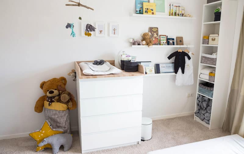 Wickelkommode - Ikea-Hack im Babyzimmer