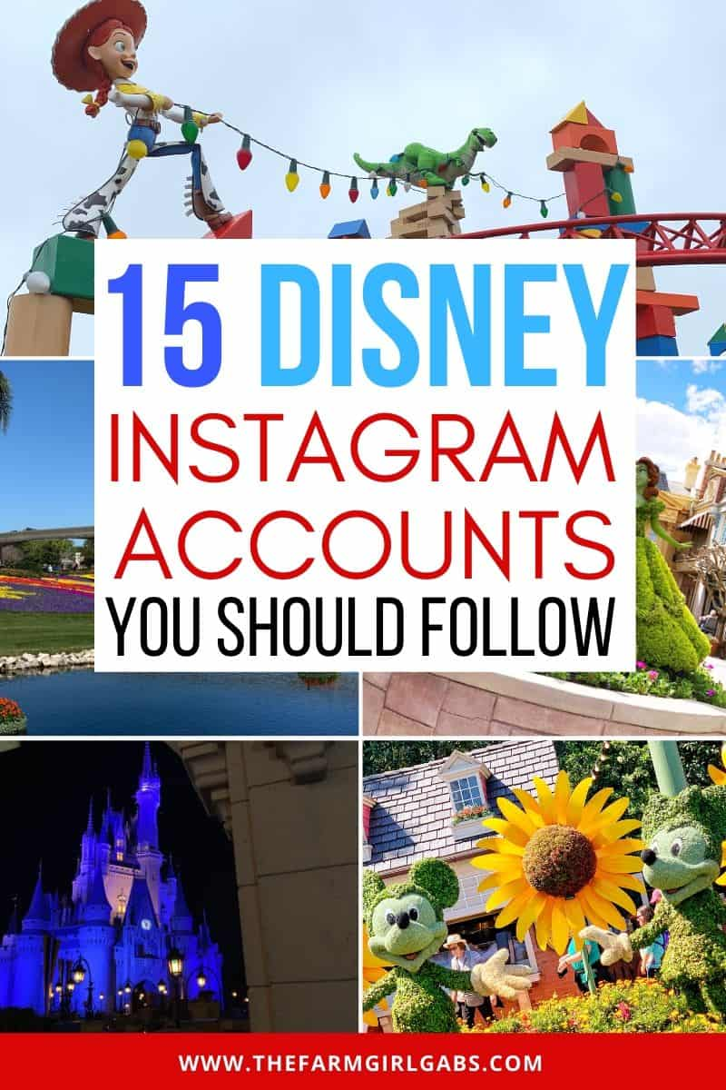 Can't get enough of the Disney Parks? Here are 15 Instagram Disney Accounts You Should Be Following to help make your day magical. Ready for some amazing Disney photography? These Disney Instagram accounts capture all the magic of Walt Disney World and the Disney Parks. #disneyworld #disneyinstagram #disneyhacks #disneyphotos