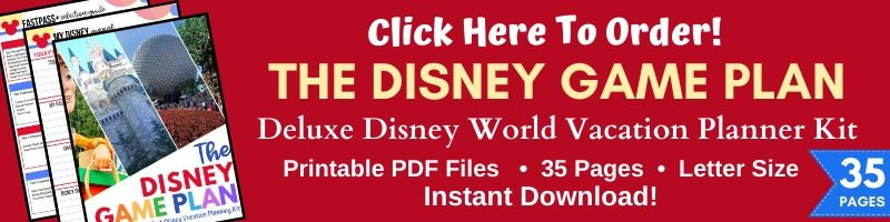 Disney Game Plan Vacation Planning Kit