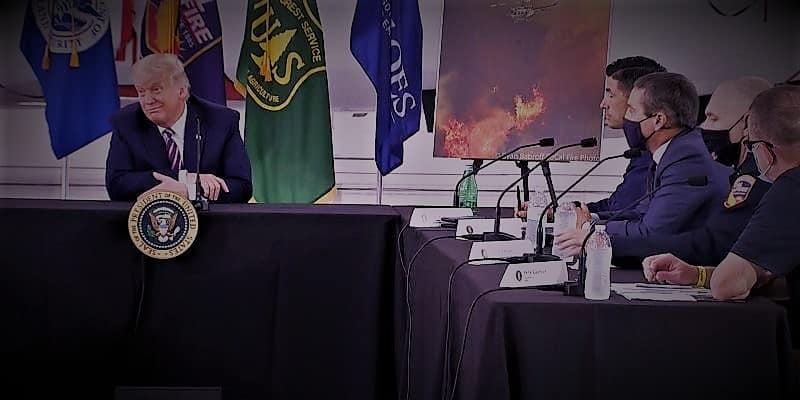 US wildfire Trump denies the concerns of climate science again as in the past