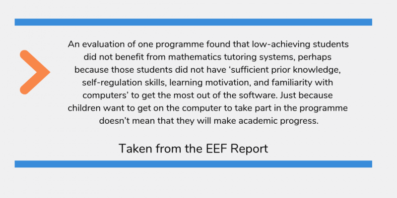 Extract from EEF Digital Technology Report