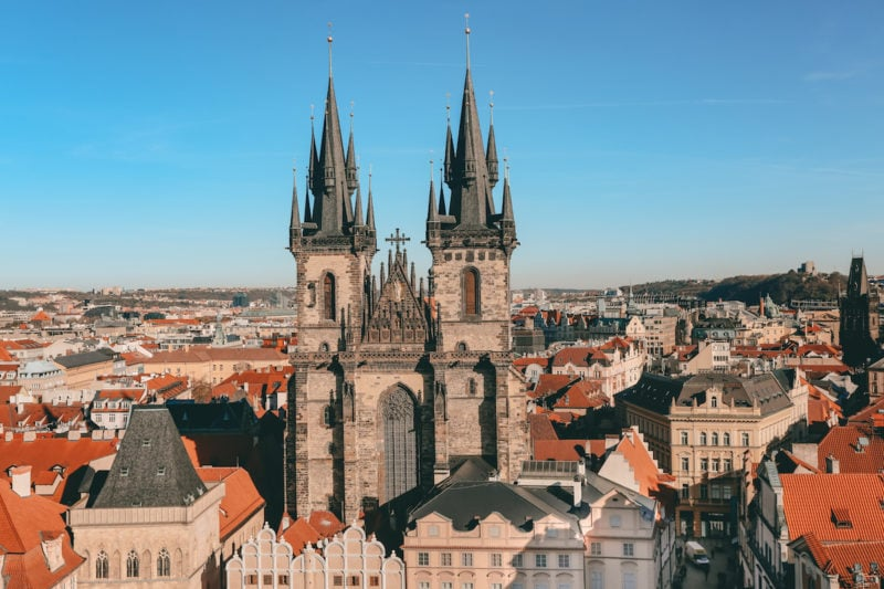The Old Market Place in Prague