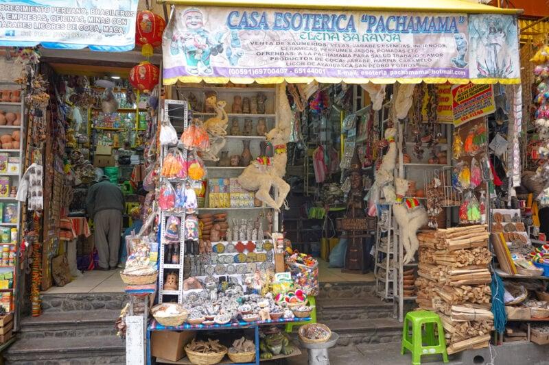 La Paz Bolivia-Witches' Market (Mercado de las Brujas)
